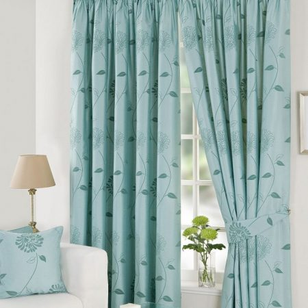 Wellingborough blinds Blue curtains