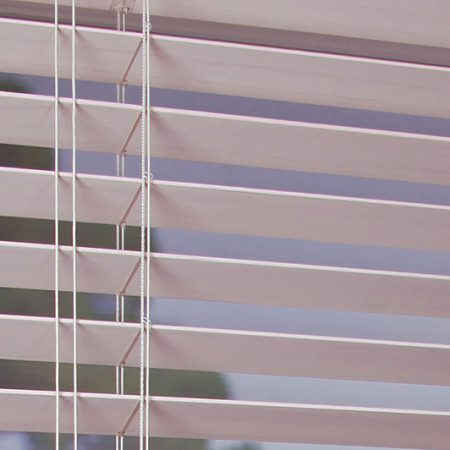 50mm privacy limed white open Wellingborough blinds
